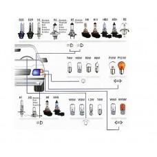 Цоколи автомобильных ламп: обозначение и типы