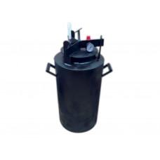 Автоклав газовий чорний міні гвинт, 20л (H=45см, D=25мм) ТМХАРКІВ