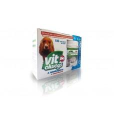 Віталвейс-біо (бад) собака табл.№100 банка з ламін. кісточки ТМO.L.KAR