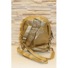 Модный золотистый женский рюкзак код 7-242