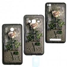 Чехол-накладка Flower Case Samsung J3 2017 J330 Love Rose