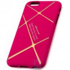 Чехол силиконовый Nillkin Apple iPhone 6 matte pink-gold